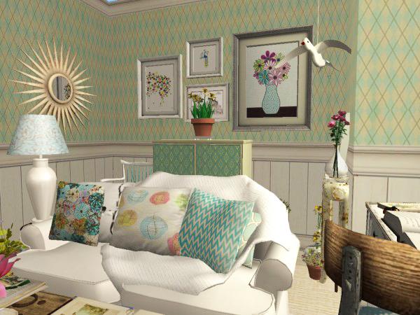 Updates sims 2 living room set Alabaster Picket