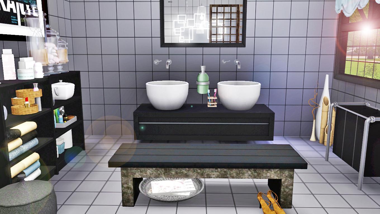 Sims 3 modern bathroom for Bathroom ideas sims 3