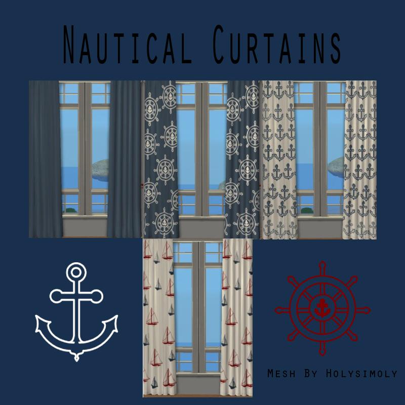 Coastal shower curtain - Nautical Curtains Casaslindas