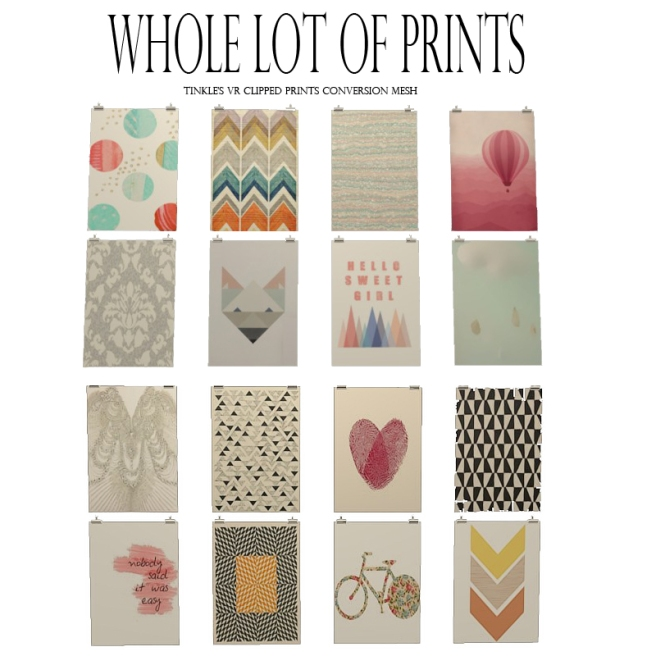 a whole lot of prints I