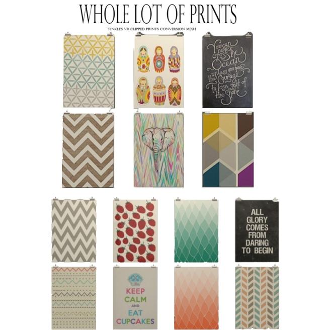 a whole lot of prints II