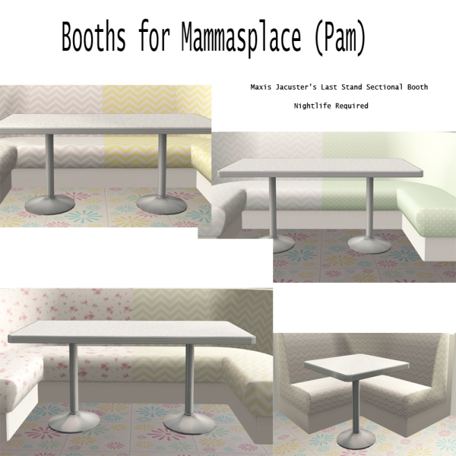 Booths for pam