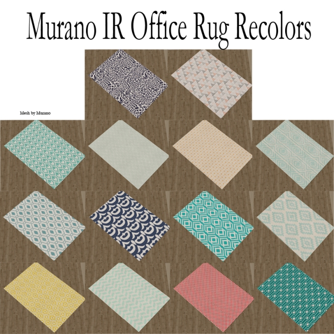 Murano IR office Rug rec
